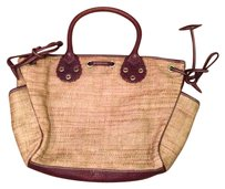 Burberry Satchel in Straw Beige And Brown