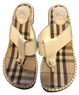 Burberry Summer Sandals White Wedges