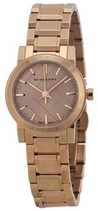 Burberry The City Petite Nude Dial Rose Gold-tone Ladies Watch