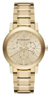 Burberry The City Yellow Gold Stainless Chronograph Watch BU9753