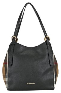 Burberry The Small Canter In Leather Tote in Black