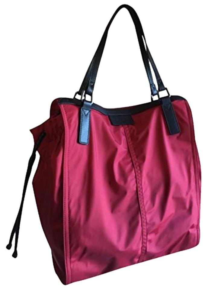 burberry nylon red tote bag totes on sale