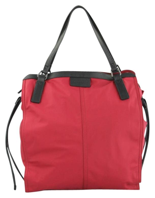 burberry small buckleigh red tote bag on sale 31 off