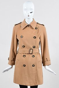 Burberry Camel Wool Cashmere Trench Coat
