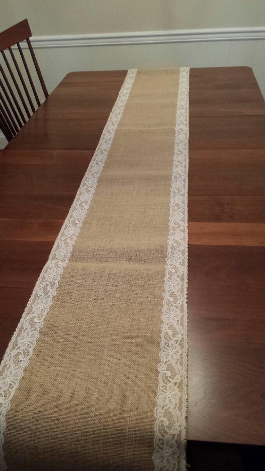 Burlap With Ivory Lace Custom Listing   19 And Runners For Melissa V.  Tableware ...