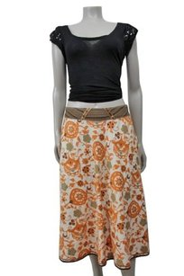 Burning Torch Floral Skirt Multi-Color