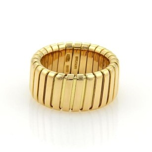 BVLGARI Bulgari Bvlgari Tubogas 18k Yellow Gold 10mm Wide Band Ring