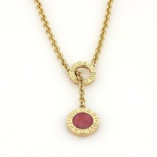 BVLGARI Bvlgari Bulgari Lapis Coral Circular Lariat Necklace In 18k Yellow Gold