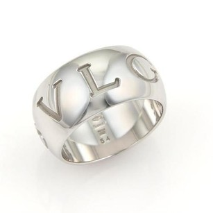 BVLGARI Bvlgari Monologo 18k White Gold Wide Band Ring -