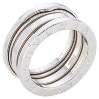 BVLGARI Vintage Bulgari B-Zero 18K White Gold Double Row Ring