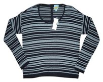 C&C California Metallic Striped Knit Sweater