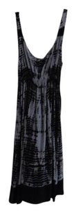 C and C of California short dress black and gray Tie Dye Silk Size L on Tradesy