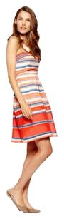 C. Luce short dress Coral stripe C Strapless on Tradesy