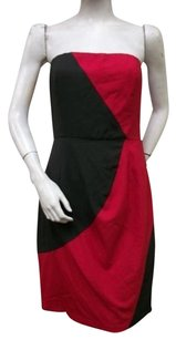 C. Luce Black Brick Red Dress