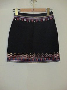 C. Wonder With Embriodery Skirt Multi-Color Black
