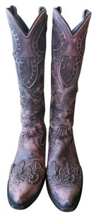 Caborca Cowboy Vintage distressed pink Boots