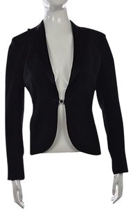 Cache Cache Womens Black Metallic Blazer Long Sleeve Career Jacket Wtw
