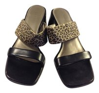 Calico Black/Cheetah Sandals