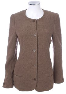 Calvin Klein Collection Wool Knit Tweed TAN Blazer