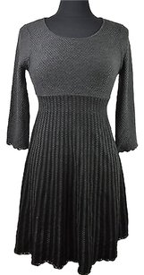 Calvin Klein short dress Gray 23 22 Charcoal Black 34 Sleeve Sweater Size Pl on Tradesy