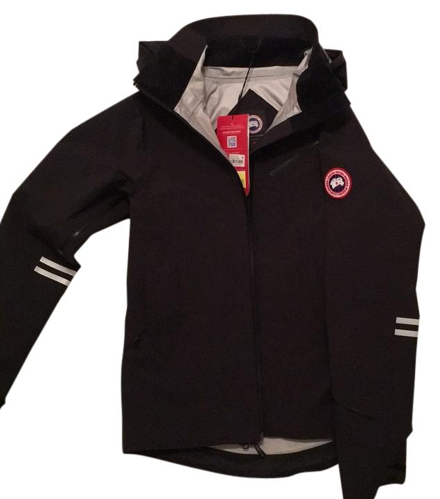 canada goose Raincoats Red Black