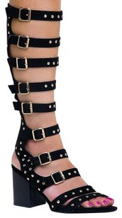 Cape Robbin Gladiator Black Sandals