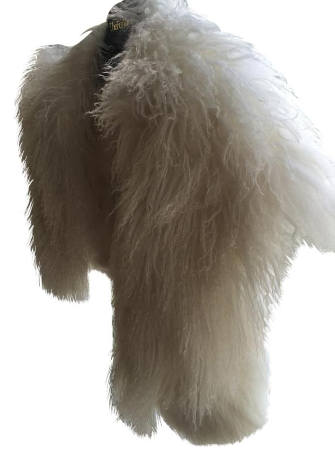 Carmen Marc Valvo Real Fur Vest/Jacket