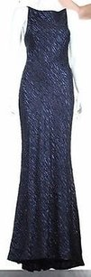 Navy Blue Maxi Dress by Carmen Marc Valvo Womens