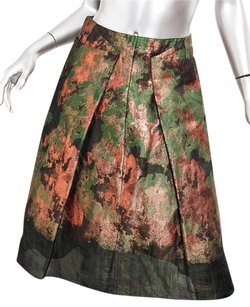 Carolina Herrera Green Skirt Green+Orange