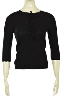 Carolina Herrera Cashmere Shirt Sweater