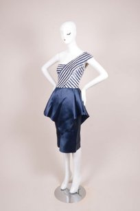 Carolina Herrera Vintage Navy Dress