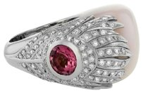 Carrera y Carrera Carrera,Carrera,18k,White,Gold,0.47,Ct.,Diamond,Pink,Peacock,Ring