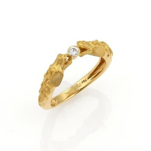 Carrera y Carrera Carrera Y Carrera Diamonds 18k Yellow Gold Double Horse Head Ring -