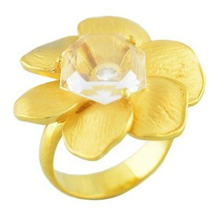 Carrera y Carrera Carrera Y Carrera Style 18k Yellow Gold 0.15ct Diamond Flower Ring Grams