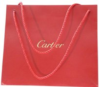 Cartier Logo Shopping Tote in Burgundy/Red