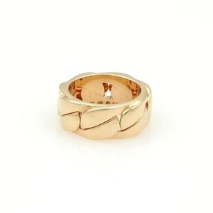 Cartier Cartier 18k Rose Gold Solid Curb Link 8mm Band Ring Eu 49-us Wbox