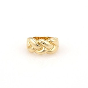 Cartier Cartier 18k Yellow Gold 10.5mm Woven Designer Ring -