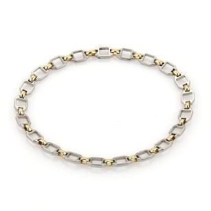 Cartier Cartier 18k Yellow Gold Stainless Steel Square Open Link Chain Bracelet