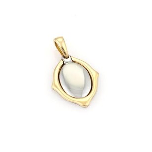 Cartier Cartier 18k Yellow Gold Steel Oval Shape Mirror Style Pendant
