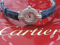 Cartier Cartier 18kt Colisee Diamond Watch Leather Strap 1.28ct Wb102931