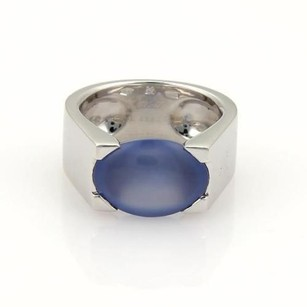 Cartier Cartier Chalcedony 18k White Gold Ring Eu 54-us