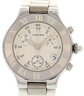Cartier Cartier Chronoscaph 21 Stainless Steel Watch 2424