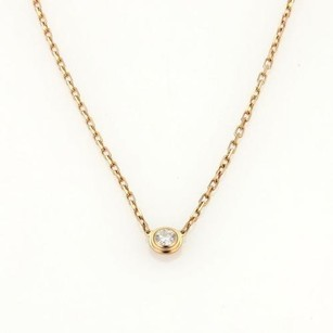 Cartier Cartier Diamants Legers De Cartier 18k Rose Gold Diamond Pendant Necklace