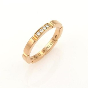 Cartier Cartier Diamond Maillon Panthere 18k Rose Gold Band Ring - Eu 5.25