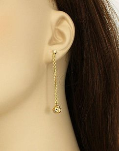 Cartier Cartier Diamonds 18k Tri-color Gold Love Knot Long Drop Dangle Earrings