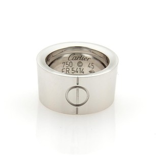 Cartier Cartier High Love 18k White Gold 10mm Wide Band Ring Eu - 3.25