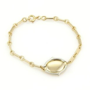 Cartier Cartier 18k Two Tone Gold Double C Oval Charm Bar Chain Link Bracelet