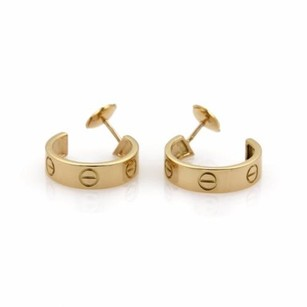 Cartier Cartier Love 18k Yellow Gold 5.5mm Wide Hoop Earrings