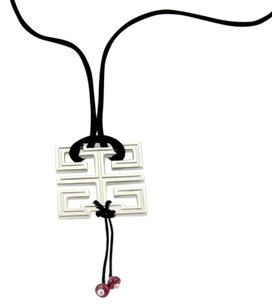 Cartier Cartier Le Baiser Du Dragon 18k White Gold Garnet Pendant Silk Cork Necklace