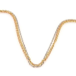 Cartier Cartier Trinity 18k Tri-color Gold Triple Strand Oval Link Chain Necklace Wcert
